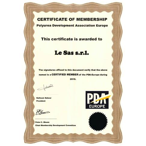 Certificato PDA