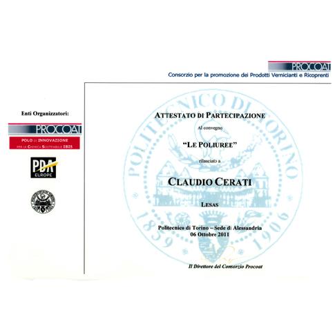 Certificato Procoat