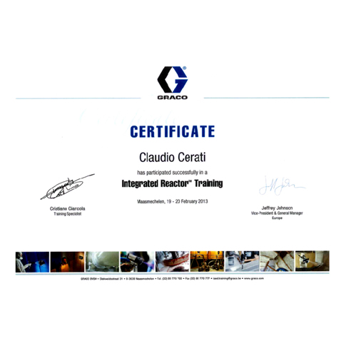 Certificato Training Graco